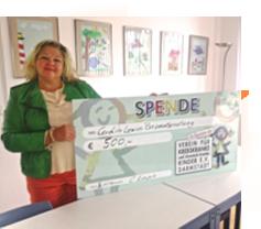 Spende 2014: Verein für krebskranke und chronisch kranke Kinder e. V. Darmstadt